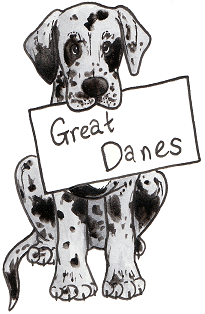 Dog coat colour genetics for Great dane coloring pages